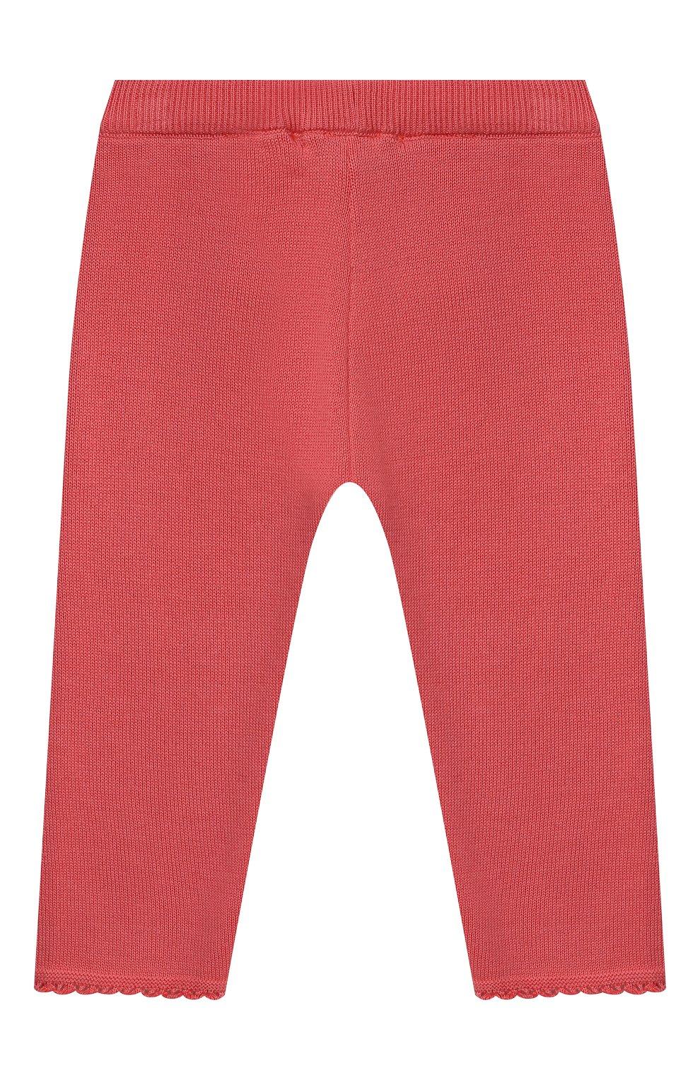 Детские хлопковые брюки TARTINE ET CHOCOLAT кораллового цвета, арт. TS24001/1M-1A | Фото 2