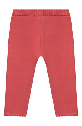 Детские хлопковые брюки TARTINE ET CHOCOLAT кораллового цвета, арт. TS24001/1M-1A | Фото 2 (Материал внешний: Хлопок; Ростовка одежда: 12 мес | 80 см, 3 мес | 62 см, 6 мес | 68 см, 9 мес | 74 см)