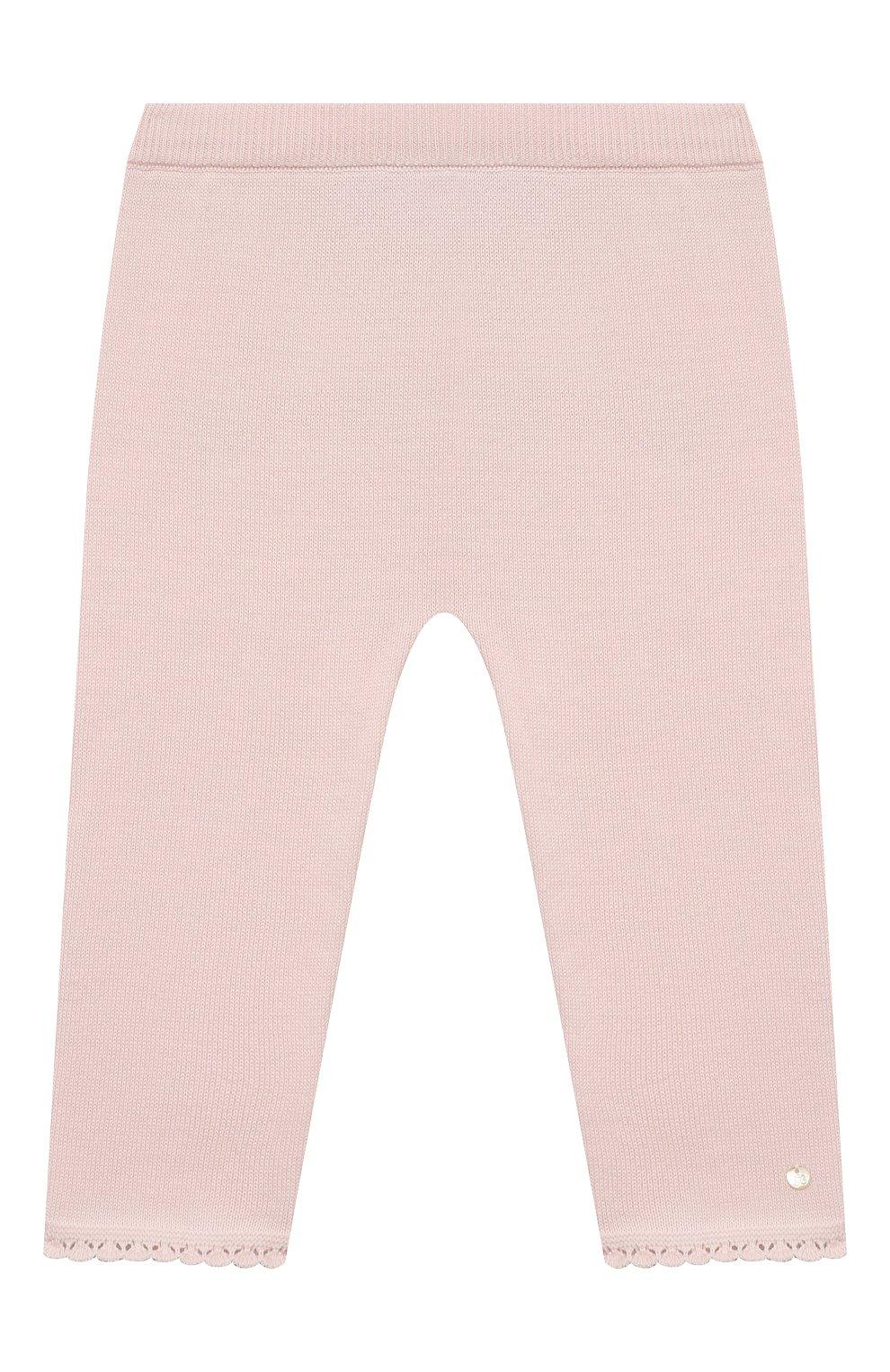 Детские хлопковые брюки TARTINE ET CHOCOLAT светло-розового цвета, арт. TS24001/18M-3A   Фото 1 (Материал внешний: Хлопок; Ростовка одежда: 18 мес   86 см, 24 мес   92 см, 36 мес   98 см)