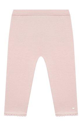 Детские хлопковые брюки TARTINE ET CHOCOLAT светло-розового цвета, арт. TS24001/18M-3A | Фото 1 (Материал внешний: Хлопок; Ростовка одежда: 18 мес | 86 см, 24 мес | 92 см, 36 мес | 98 см)