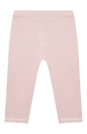 Детские хлопковые брюки TARTINE ET CHOCOLAT светло-розового цвета, арт. TS24001/18M-3A | Фото 2 (Материал внешний: Хлопок; Ростовка одежда: 18 мес | 86 см, 24 мес | 92 см, 36 мес | 98 см)