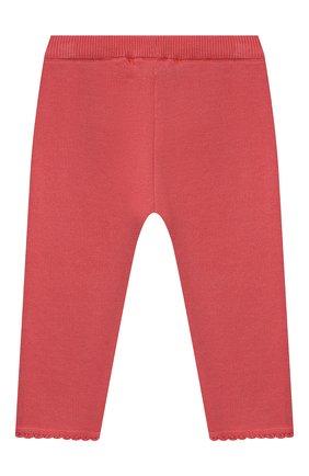 Детские хлопковые брюки TARTINE ET CHOCOLAT кораллового цвета, арт. TS24001/18M-3A | Фото 2 (Материал внешний: Хлопок; Ростовка одежда: 18 мес | 86 см, 24 мес | 92 см, 36 мес | 98 см)