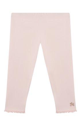 Детские хлопковые брюки TARTINE ET CHOCOLAT светло-розового цвета, арт. TS24011/1M-1A | Фото 1 (Материал внешний: Хлопок; Ростовка одежда: 12 мес | 80 см, 3 мес | 62 см, 6 мес | 68 см, 9 мес | 74 см)