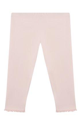 Детские хлопковые брюки TARTINE ET CHOCOLAT светло-розового цвета, арт. TS24011/1M-1A | Фото 2 (Материал внешний: Хлопок; Ростовка одежда: 12 мес | 80 см, 3 мес | 62 см, 6 мес | 68 см, 9 мес | 74 см)