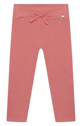 Детские хлопковые брюки TARTINE ET CHOCOLAT розового цвета, арт. TS24021/1M-1A | Фото 1 (Материал внешний: Хлопок; Ростовка одежда: 12 мес | 80 см, 3 мес | 62 см, 6 мес | 68 см, 9 мес | 74 см)