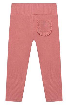 Детские хлопковые брюки TARTINE ET CHOCOLAT розового цвета, арт. TS24021/1M-1A | Фото 2 (Материал внешний: Хлопок; Ростовка одежда: 12 мес | 80 см, 3 мес | 62 см, 6 мес | 68 см, 9 мес | 74 см)