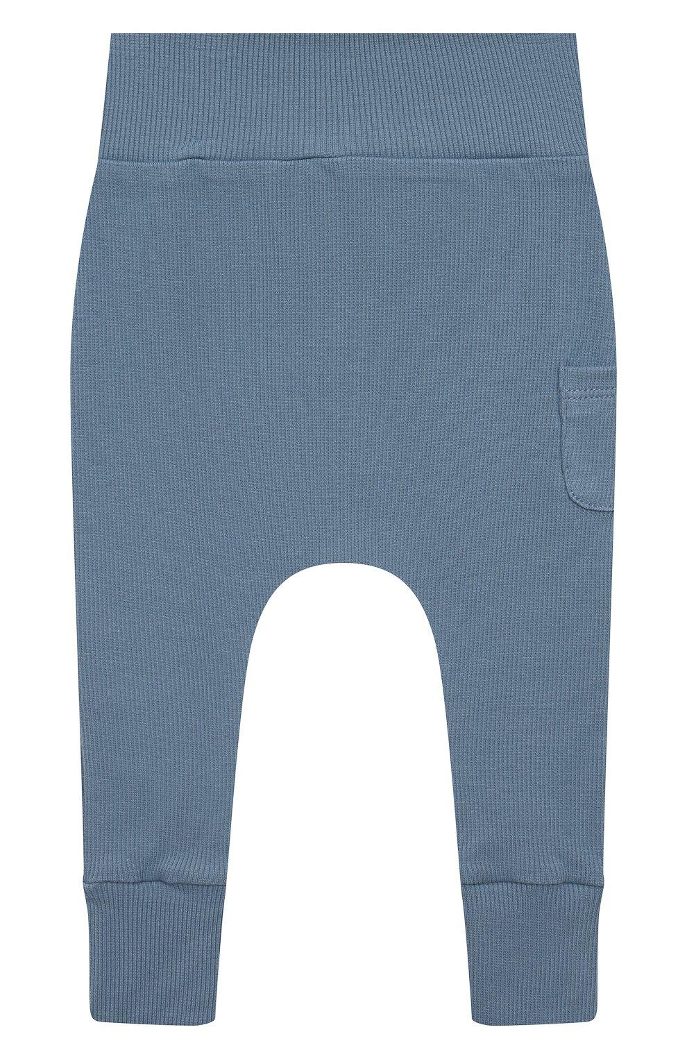 Детские хлопковые брюки TARTINE ET CHOCOLAT синего цвета, арт. TS24041/1M-1A | Фото 1 (Материал внешний: Хлопок; Ростовка одежда: 12 мес | 80 см, 3 мес | 62 см, 6 мес | 68 см, 9 мес | 74 см)