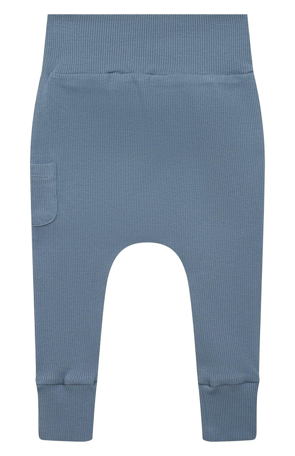 Детские хлопковые брюки TARTINE ET CHOCOLAT синего цвета, арт. TS24041/1M-1A | Фото 2 (Материал внешний: Хлопок; Ростовка одежда: 12 мес | 80 см, 3 мес | 62 см, 6 мес | 68 см, 9 мес | 74 см)