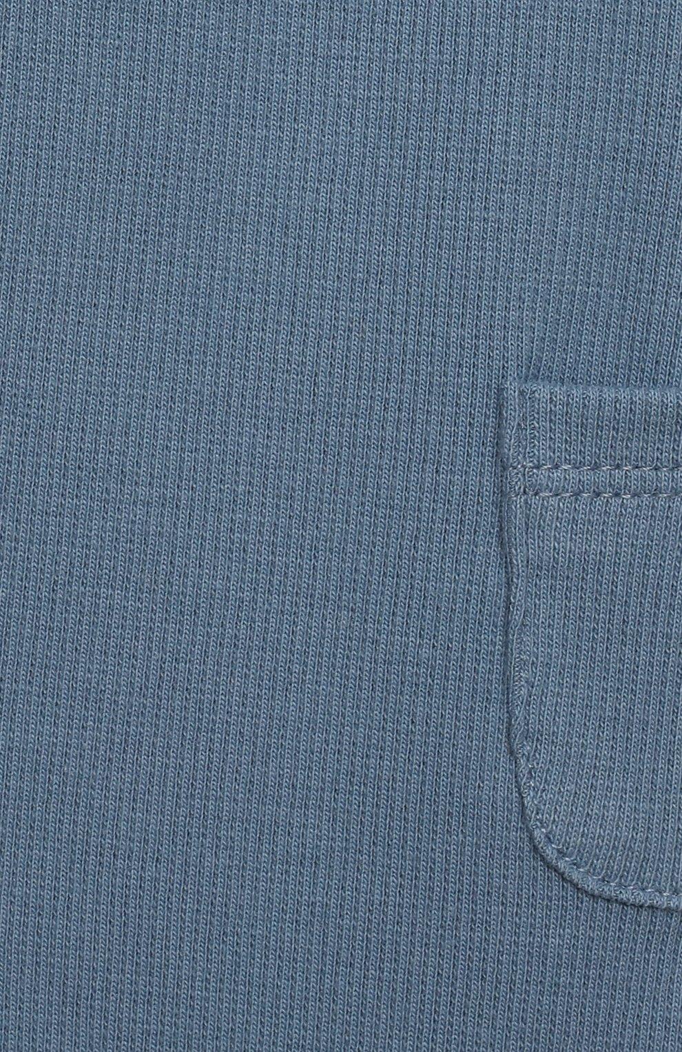 Детские хлопковые брюки TARTINE ET CHOCOLAT синего цвета, арт. TS24041/1M-1A | Фото 3 (Материал внешний: Хлопок; Ростовка одежда: 12 мес | 80 см, 3 мес | 62 см, 6 мес | 68 см, 9 мес | 74 см)