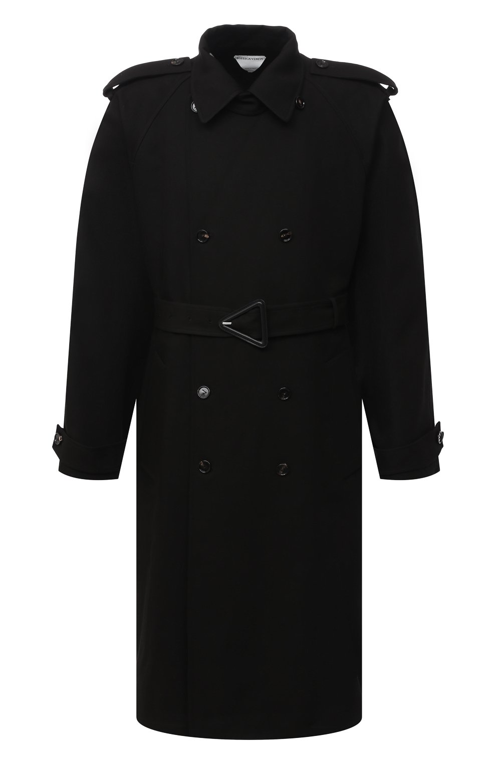 Мужской хлопковый тренч BOTTEGA VENETA черного цвета, арт. 647116/V0010 | Фото 1