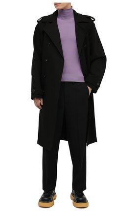 Мужской хлопковый тренч BOTTEGA VENETA черного цвета, арт. 647116/V0010 | Фото 2