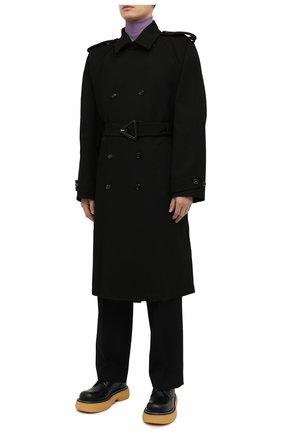 Мужской хлопковый тренч BOTTEGA VENETA черного цвета, арт. 647116/V0010 | Фото 3