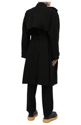 Мужской хлопковый тренч BOTTEGA VENETA черного цвета, арт. 647116/V0010 | Фото 4
