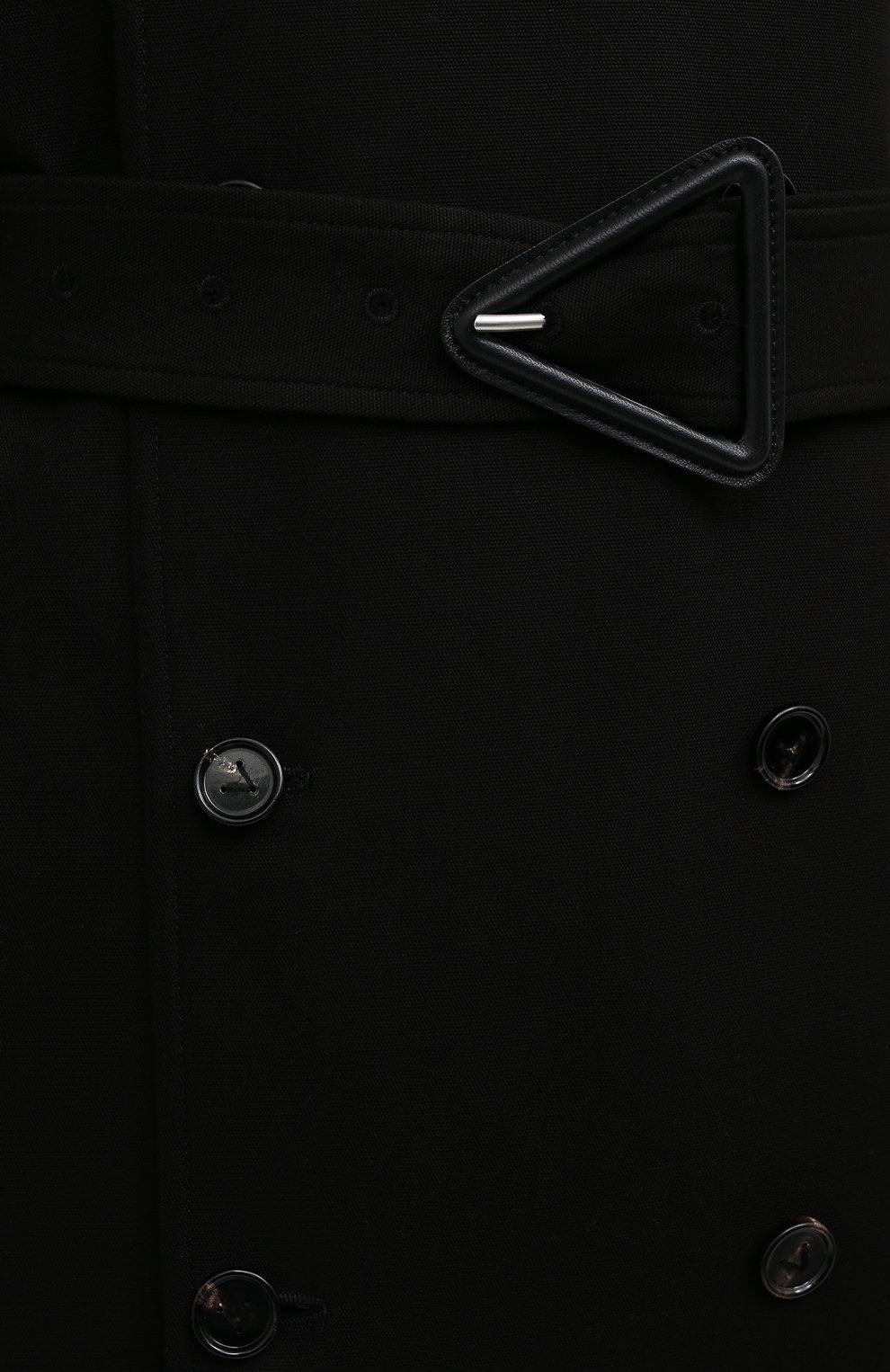 Мужской хлопковый тренч BOTTEGA VENETA черного цвета, арт. 647116/V0010 | Фото 5