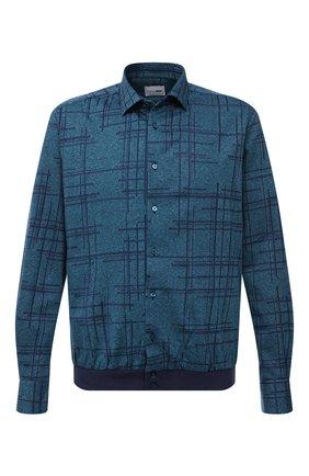 Мужская хлопковая рубашка ZILLI SPORT бирюзового цвета, арт. MFU-56061-@/0005/06/07 | Фото 1