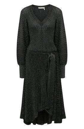 Женское платье из вискозы CHLOÉ темно-зеленого цвета, арт. CHC21SMR82570 | Фото 1