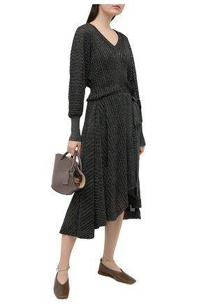 Женское платье из вискозы CHLOÉ темно-зеленого цвета, арт. CHC21SMR82570 | Фото 2
