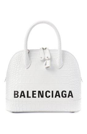 Женская сумка ville BALENCIAGA белого цвета, арт. 550645/1LRP3 | Фото 1 (Материал: Натуральная кожа; Сумки-технические: Сумки top-handle; Ремень/цепочка: На ремешке; Размер: medium)