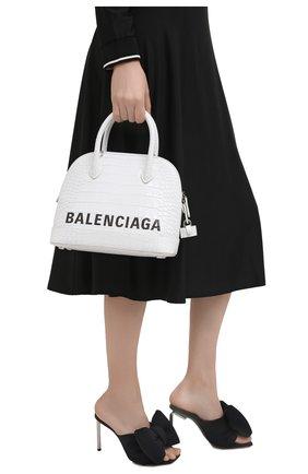 Женская сумка ville BALENCIAGA белого цвета, арт. 550645/1LRP3 | Фото 2 (Материал: Натуральная кожа; Сумки-технические: Сумки top-handle; Ремень/цепочка: На ремешке; Размер: medium)