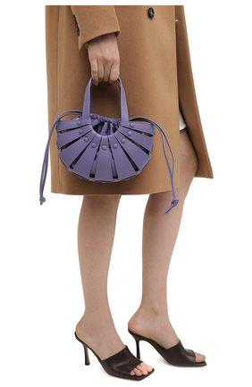 Женская сумка shell small BOTTEGA VENETA сиреневого цвета, арт. 651819/VMAUH | Фото 2