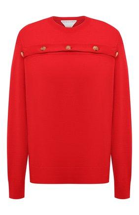 Женский шерстяной пуловер BOTTEGA VENETA красного цвета, арт. 648729/V09S0 | Фото 1