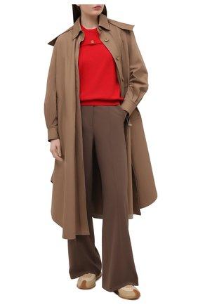 Женский шерстяной пуловер BOTTEGA VENETA красного цвета, арт. 648729/V09S0 | Фото 2