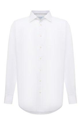Мужская хлопковая сорочка ETON белого цвета, арт. 1000 01848 | Фото 1 (Воротник: Кент; Рубашки М: Classic Fit; Рукава: Длинные; Big sizes: Big Sizes; Стили: Классический; Случай: Формальный; Материал внешний: Хлопок)