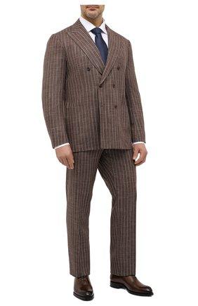 Мужская хлопковая сорочка ETON белого цвета, арт. 1000 01848 | Фото 2 (Воротник: Кент; Рубашки М: Classic Fit; Рукава: Длинные; Big sizes: Big Sizes; Стили: Классический; Случай: Формальный; Материал внешний: Хлопок)