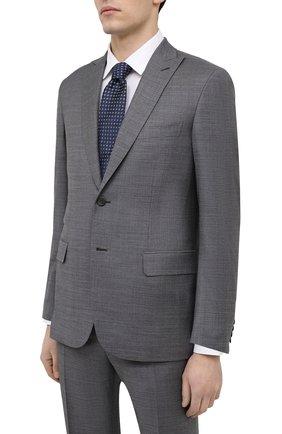 Мужской шерстяной костюм BRIONI серого цвета, арт. RA0X0L/P0A25/BRACCIAN0 | Фото 2 (Материал подклада: Купро; Рукава: Длинные; Материал внешний: Шерсть; Стили: Классический; Костюмы М: Однобортный)