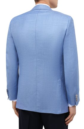 Мужской пиджак из кашемира и шелка BRIONI голубого цвета, арт. RGH00U/P0321/PARLAMENT0 | Фото 4