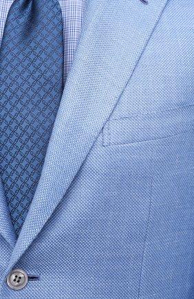 Мужской пиджак из кашемира и шелка BRIONI голубого цвета, арт. RGH00U/P0321/PARLAMENT0 | Фото 5