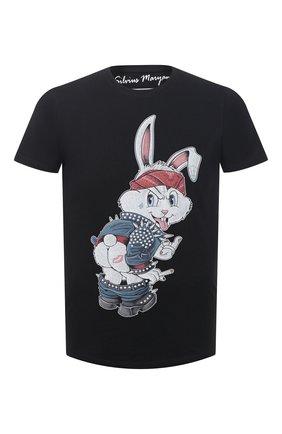 Мужская хлопковая футболка BISIBIGLIO черного цвета, арт. R21 BAD RABBIT/RIF (C0TT0NE PESANTE) | Фото 1