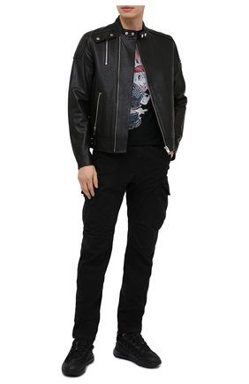 Мужская хлопковая футболка BISIBIGLIO черного цвета, арт. R21 BAD RABBIT/RIF (C0TT0NE PESANTE) | Фото 2