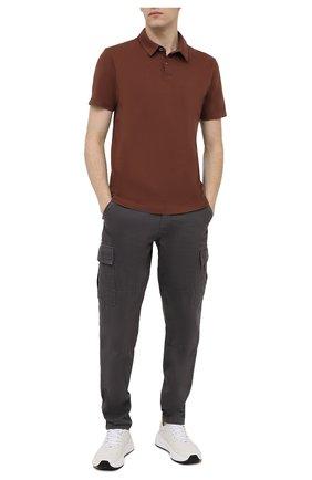Мужское хлопковое поло JAMES PERSE коричневого цвета, арт. MSX3337 | Фото 2