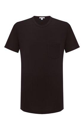 Мужская хлопковая футболка JAMES PERSE темно-коричневого цвета, арт. MLJ3282 | Фото 1