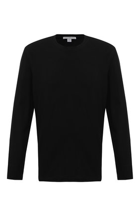 Мужская хлопковый лонгслив JAMES PERSE черного цвета, арт. MDTS3377 | Фото 1