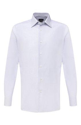 Мужская хлопковая сорочка ERMENEGILDO ZEGNA голубого цвета, арт. 901028/9MS0PA | Фото 1