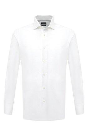 Мужская хлопковая сорочка ERMENEGILDO ZEGNA белого цвета, арт. 901500/9MS0BA | Фото 1