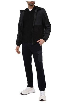 Мужской хлопковый кардиган Z ZEGNA черного цвета, арт. VWC71/ZZ458   Фото 2 (Мужское Кросс-КТ: Кардиган-одежда; Длина (для топов): Стандартные; Стили: Кэжуэл; Рукава: Длинные; Материал внешний: Хлопок)
