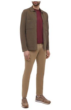 Мужская хлопковая рубашка Z ZEGNA хаки цвета, арт. VWC68/ZZ159 | Фото 2 (Материал внешний: Хлопок; Принт: Однотонные; Воротник: Кент; Рукава: Длинные; Стили: Кэжуэл; Манжеты: Без застежки; Случай: Повседневный; Длина (для топов): Стандартные)