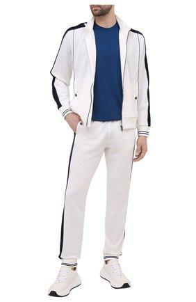 Мужской шерстяной кардиган Z ZEGNA белого цвета, арт. VW470/ZZT808 | Фото 2 (Рукава: Длинные; Мужское Кросс-КТ: Кардиган-одежда; Стили: Спорт-шик; Материал внешний: Шерсть; Длина (для топов): Стандартные)