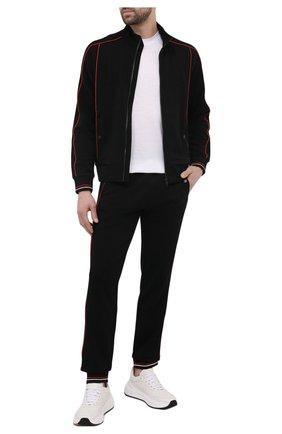Мужская шерстяная футболка Z ZEGNA белого цвета, арт. VW391/ZZT608 | Фото 2 (Принт: Без принта; Длина (для топов): Стандартные; Рукава: Короткие; Стили: Кэжуэл; Материал внешний: Шерсть)