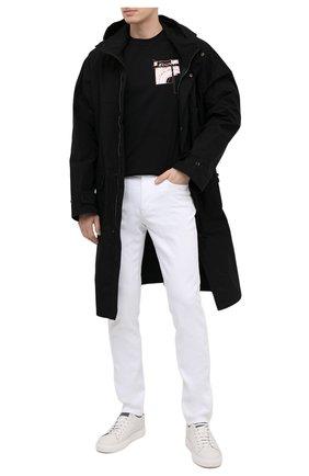 Мужская хлопковая футболка Z ZEGNA черного цвета, арт. VW372/ZZ630A | Фото 2 (Длина (для топов): Стандартные; Материал внешний: Хлопок; Принт: С принтом; Рукава: Короткие; Стили: Кэжуэл)