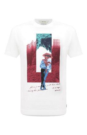 Мужская хлопковая футболка Z ZEGNA белого цвета, арт. VW364/ZZ629N | Фото 1 (Длина (для топов): Стандартные; Принт: С принтом; Материал внешний: Хлопок; Рукава: Короткие; Стили: Кэжуэл)