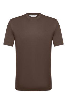 Мужская хлопковая футболка Z ZEGNA хаки цвета, арт. VW348/ZZ641 | Фото 1 (Принт: Без принта; Материал внешний: Хлопок; Длина (для топов): Стандартные; Стили: Кэжуэл; Рукава: Короткие)