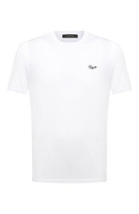 Мужская хлопковая футболка ERMENEGILDO ZEGNA белого цвета, арт. UW526/707R | Фото 1