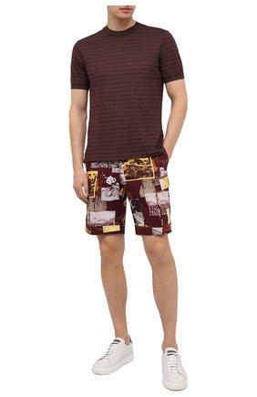 Мужская футболка из хлопка и шелка ERMENEGILDO ZEGNA коричневого цвета, арт. UW388/706 | Фото 2