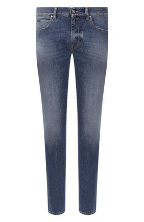 Мужские джинсы Z ZEGNA синего цвета, арт. VW773S/ZZ510 | Фото 1 (Материал внешний: Хлопок; Силуэт М (брюки): Прямые; Длина (брюки, джинсы): Стандартные; Стили: Кэжуэл; Кросс-КТ: Деним; Детали: Потертости)