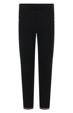 Мужские шерстяные джоггеры Z ZEGNA черного цвета, арт. VW475/ZZTP08   Фото 1 (Мужское Кросс-КТ: Брюки-трикотаж; Материал внешний: Шерсть; Длина (брюки, джинсы): Стандартные; Силуэт М (брюки): Джоггеры; Стили: Спорт-шик)
