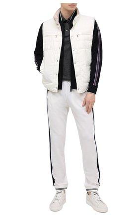 Мужские шерстяные джоггеры Z ZEGNA белого цвета, арт. VW470/ZZTP08 | Фото 2 (Силуэт М (брюки): Джоггеры; Длина (брюки, джинсы): Стандартные; Стили: Спорт-шик; Материал внешний: Шерсть; Мужское Кросс-КТ: Брюки-трикотаж)